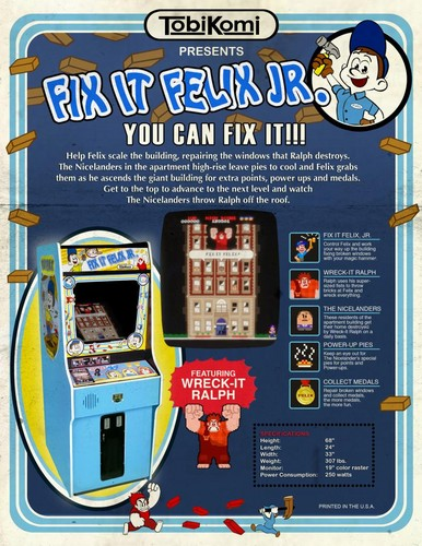 Fix-It Felix Jr. game pamphlet