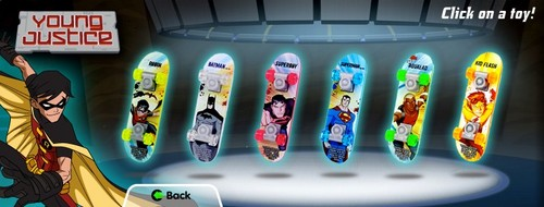 Young Justice skateboards