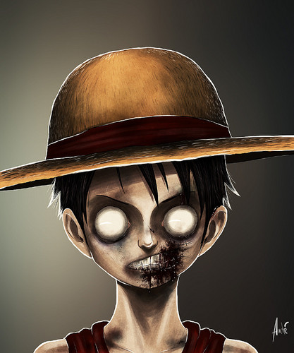 One Piece wallpaper entitled Zombie Luffy
