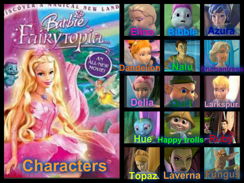 Barbie fairytopia charcters