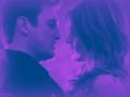 castle-and-beckett - black light wallpaper