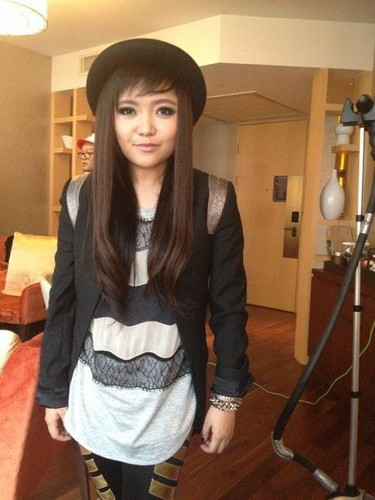 Charice Pempengco wolpeyper probably containing an outerwear, a well dressed person, and a hip boot entitled charice