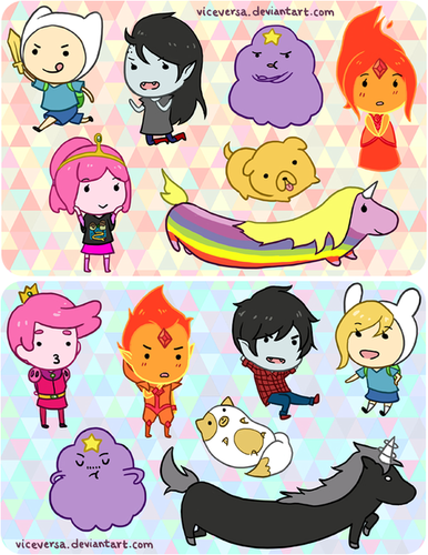 Adventure Time With Finn and Jake wallpaper called chibi adventure
