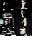 colour meme: Sam Winchester in black