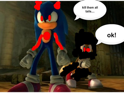 evil sonic and dark tails