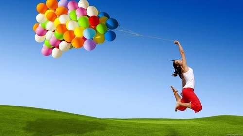 Quotes wallpaper containing a meteorological balloon called happy