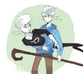 jack frost and danny  - rise-of-the-guardians fan art