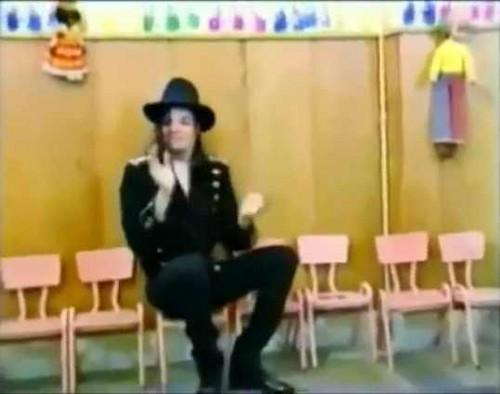 michael at a school