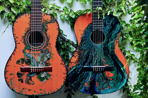 painted guitars