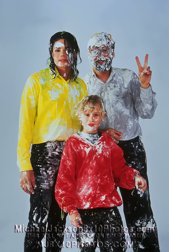pie fight with michael jackson