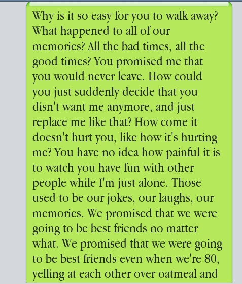 sadness part 1