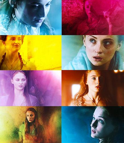 sansa stark + colours