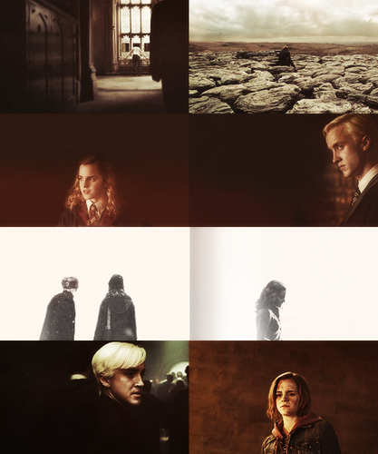 Dramione wallpaper probably containing a street, sunniness, and a sign titled screencap meme: dramione + space