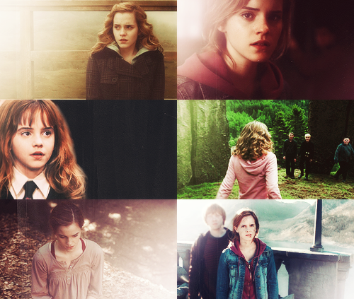 Harry Potter wallpaper containing a portrait titled screencap meme: hermione granger + colors abound