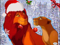 simba and nala going to the christmas tree