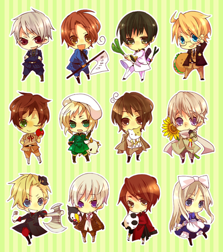 Hetalia wallpaper probably with a stained glass window, a slot, and anime entitled ~Chibi Hetalia~