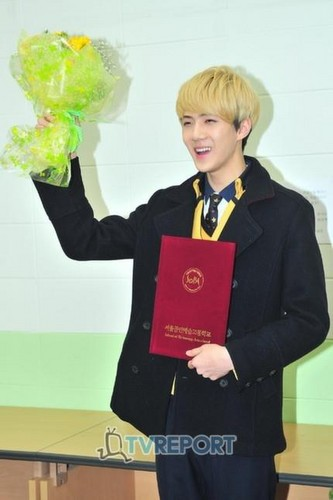 EXO @Sehun's Graduation Ceremony.