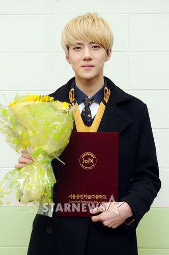 exo @Sehun's Graduation Ceremony.