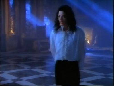 "Michael Jackson's Ghosts wallpaper possibly containing a concert, a fountain, and a well dressed person titled ""Ghosts"""