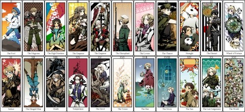 Hetalia wallpaper containing a stained glass window and anime titled ~Hetalia Tarot Cards~