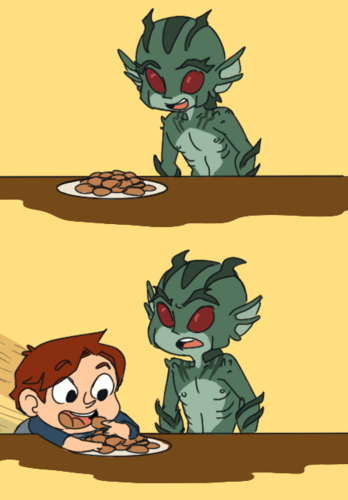 I eat your cookies!
