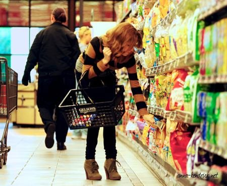 January 23: Shopping at Gelson's in L.A.