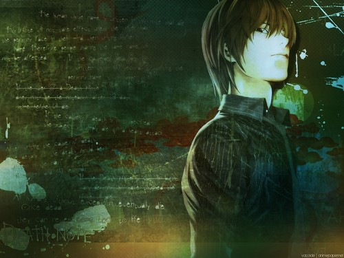 death note wallpaper containing a portrait called ۞Light۞