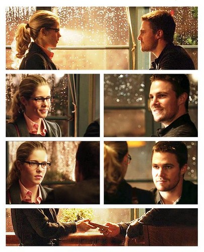 Oliver & Felicity achtergrond probably with a portrait called Oliver & Felicity