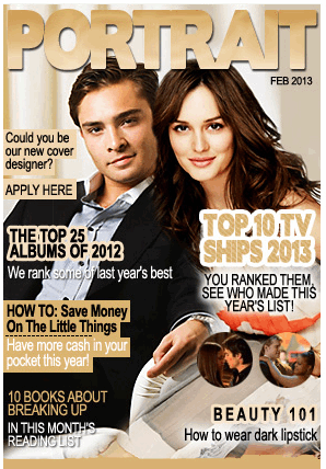 2012-2013 juu 10 Young TV Ships as voted kwa YOU! Long live Chuck and Blair ♥