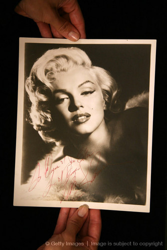 A Vintage Autographed photo Of Marylin Monroe