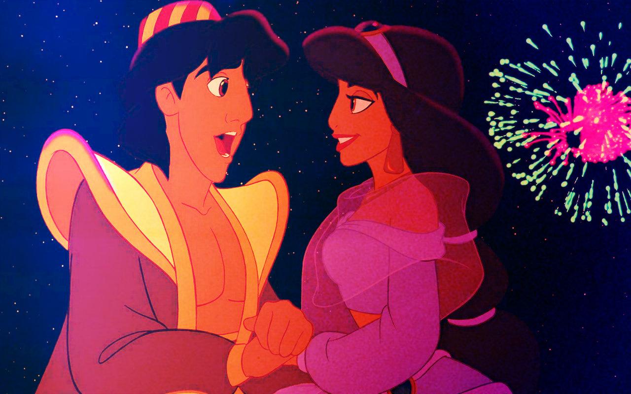 disney princess valentine's day images aladdin & jasmine hd