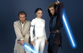 Ani, Obi, Padme - obi-wan-kenobi-and-anakin-skywalker photo