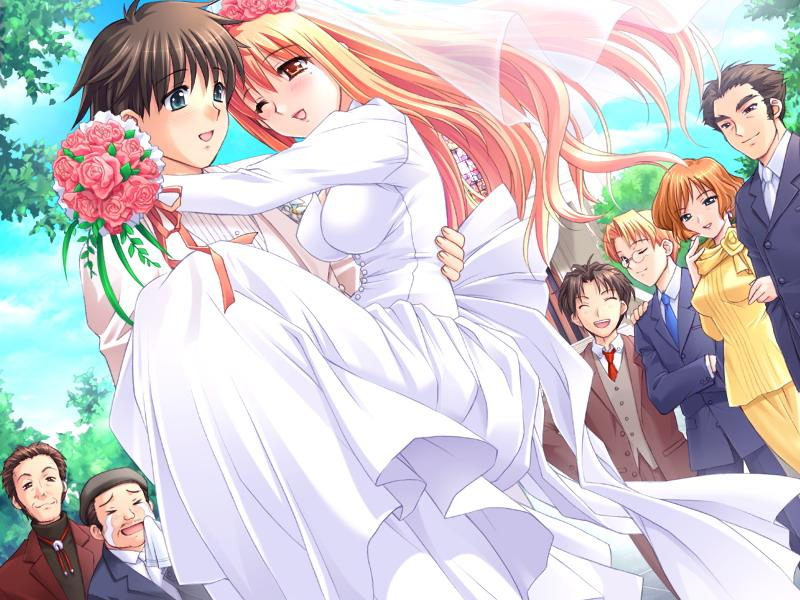 Anime wedding runochan97 wallpaper 33554796 fanpop for Anime wedding dress up games