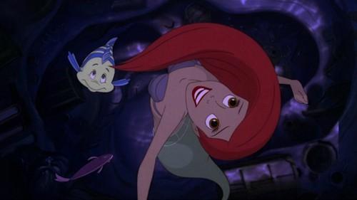 Ariel with brown eyes