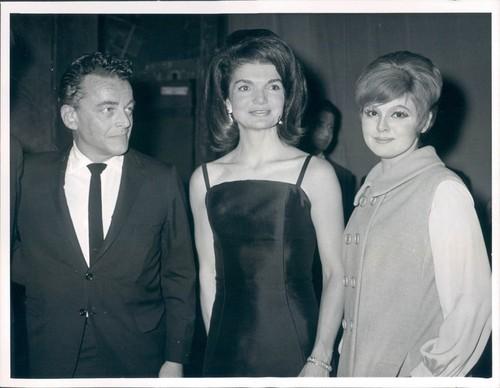 Barbara Harris with Jackie Kennedy Backstage