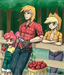 Big Mac apple Bloom and apple jack in real life