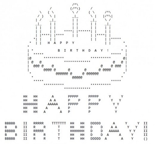 ASCII ART Images Birthday Cake Wallpaper And Background Photos (33531070