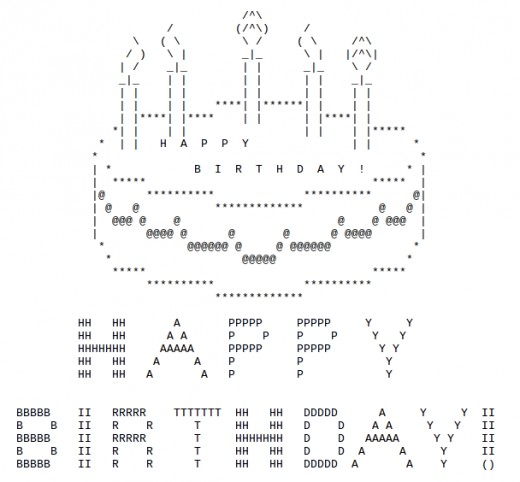 Ascii Art Birthday Cake Facebook
