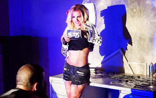 Britney Spears at the 2011 VMA promo shoot
