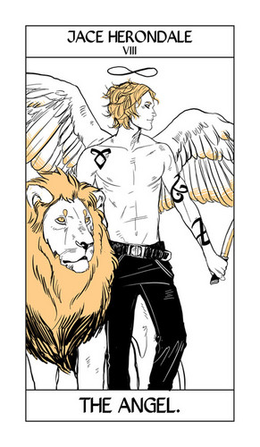 Mortal Instruments wallpaper containing anime entitled Cassandra Jean's Tarot Cards: Jace Herondale {The Angel}.