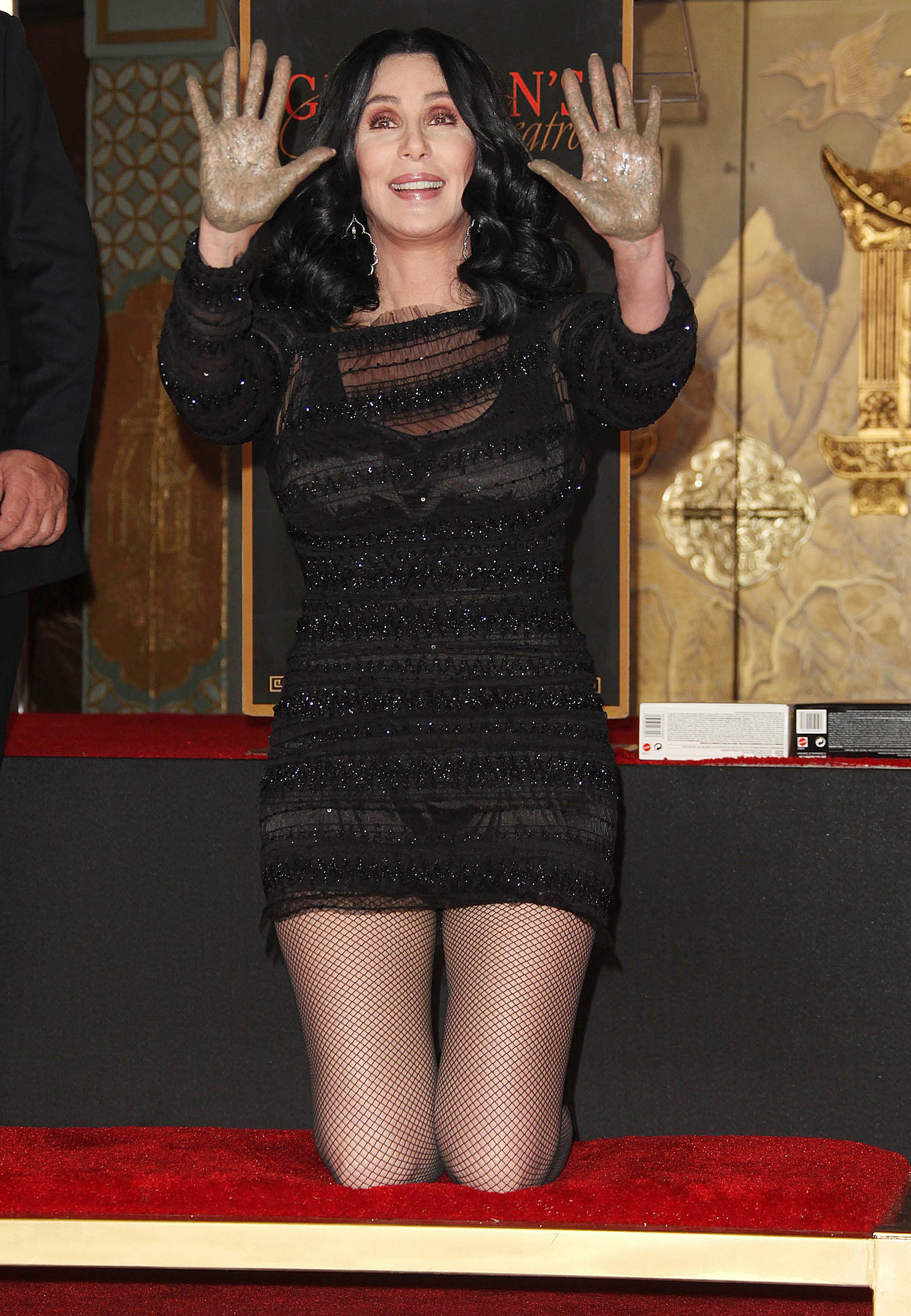 Cher's Hand & Footprints Ceremony held the Chinese theatre