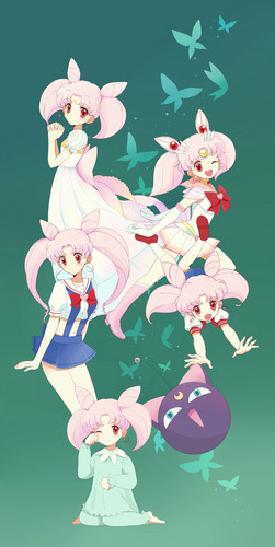 Sailor Mini moon (Rini) fondo de pantalla entitled Chibiusa