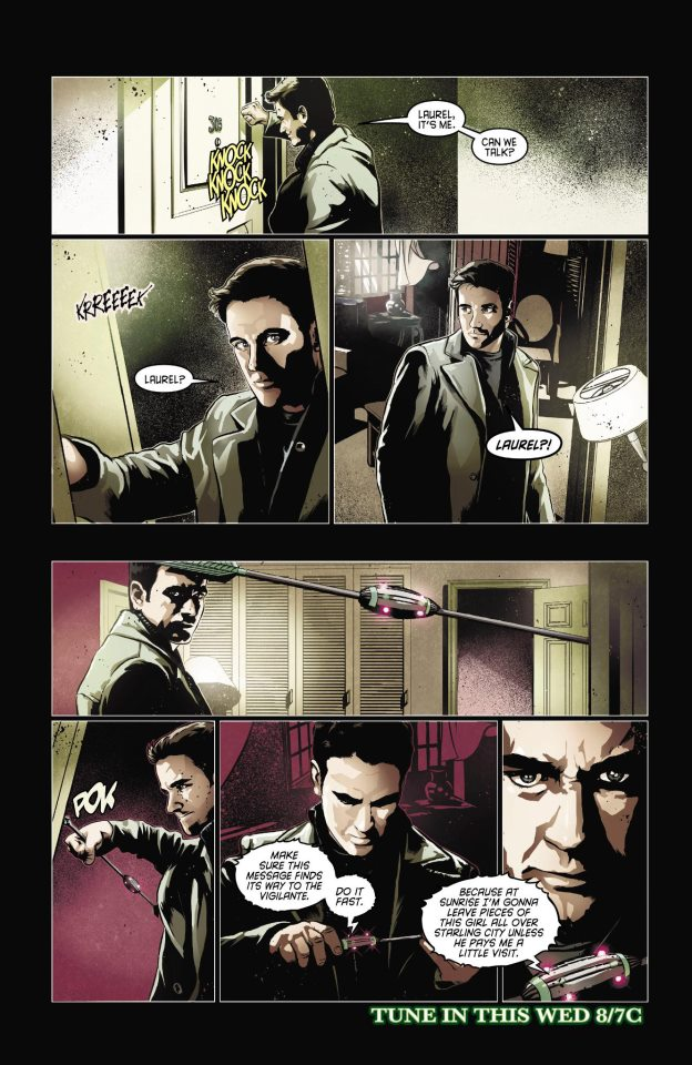 Arrow CW Comic