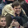 Diane Kruger and Joshua Jackson cheering for Germany