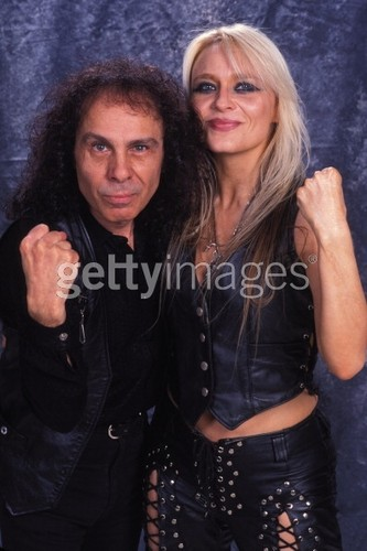 Doro Pesch with Ronnie James Dio