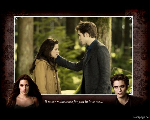 New Moon Movie wallpaper probably with a sign called Edward&Bella
