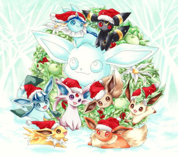 Christmas Eevee.Eevee Christmas Eevee Evolutions Clan Photo 33584247