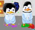 Emma and Kowalski as babies. XD