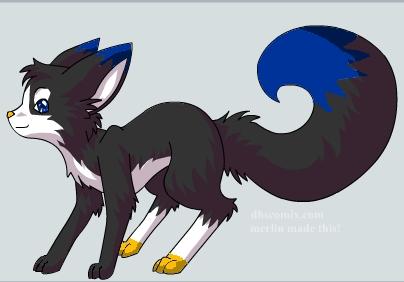Emma as a fox.