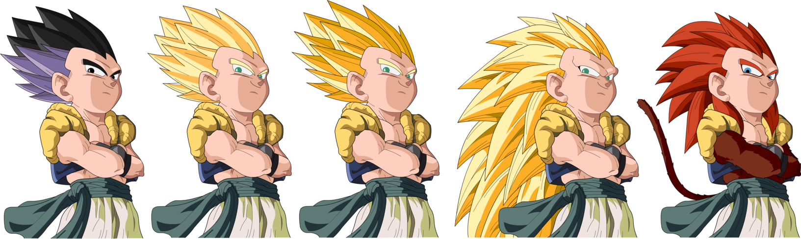 dragon ball all fusion images gotenks all forms hd